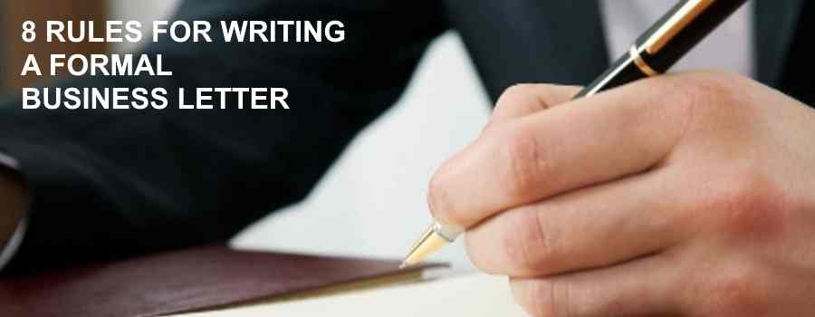 writing a formal letter rules